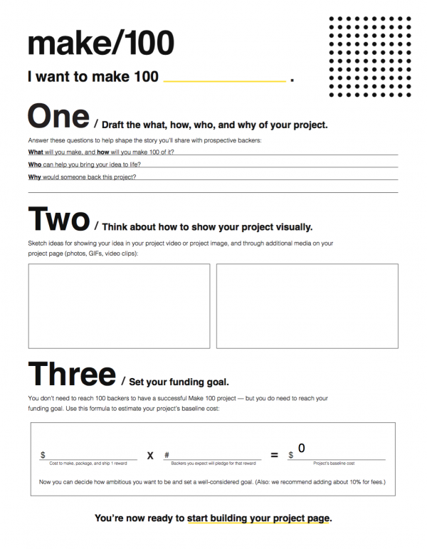 Make100worksheet